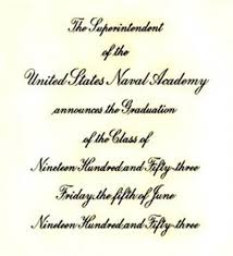 academy graduation invitations naval academy he gave all