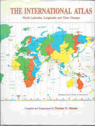 Detailed World Map Standard Time by The International Atlas World Latitudes Longitudes And Time