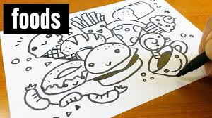 play doodle draw how to draw kawaii doodle foods doodle for
