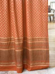 Sheer Curtains Orange Bohemian Curtains Moroccan Curtains India Curtains