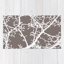 impressive brown area rug magnolia tree branches modern regarding