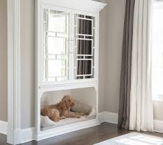 Covered Dog Bed Bedroom With Built In Inset Dog Bed Transitional Bedroom