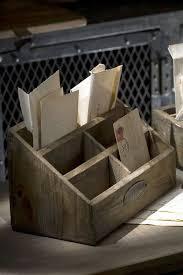 Desk Letter Organizer Wooden Desk Organizer Farmhouse Style Accents Pinterest