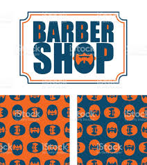 barber shop and pattern bearded ornament hipper ornament