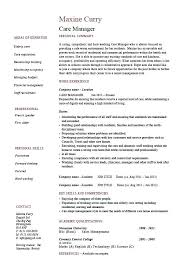 healthcare resume template healthcare resume template care manager personal summary career