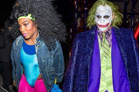 theatrical quality halloween costumes serena williams and lewis hamilton get cozy on halloween page six