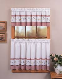 adorable transparent purple kitchen cafe curtains with valance