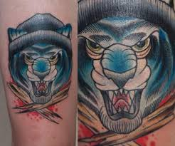 tattoo bandit instagram blue tiger bandit new school tattoo by last angels tattoo best