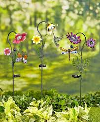 lawn stakes for lights solar flower garden stake light yard outdoor lawn decor patio