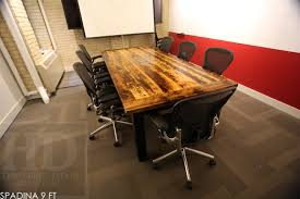 Wooden Boardroom Table Reclaimed Wood Conference Tables Toronto Ontario 5 Blog