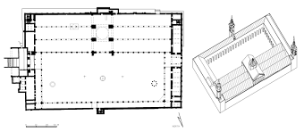 100 floor plan of a mosque square plan with chamfered