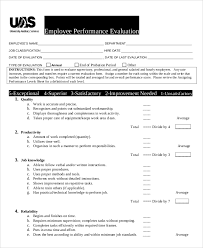sample performance evaluation 7 documents in pdf word