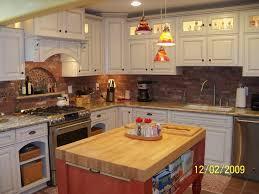 tile countertops kitchen island with butcher block top lighting