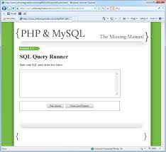 4 connecting php to mysql php u0026 mysql the missing manual book