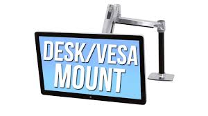 Sit Stand Desk Adapter by Desk Tv Stand Vesa Mount Adapter Youtube