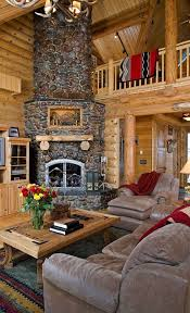 beautiful log home interiors 34 beautiful fireplaces that rock