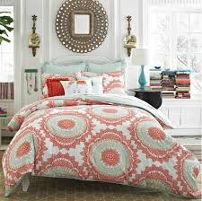 teal and coral bedding sets pictures reference