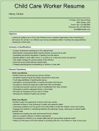 Sle Resume Of Child Caregiver Sle Child Care Resume Sle Daycare Resume Preschool
