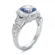 blue wedding rings custom light blue sapphire and engagement ring 102135