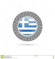 Greece Flag Colors Greece Flag Hellas Design Art Illustration In Colorful Stock