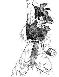 son goku pen sketch by goxgo on deviantart