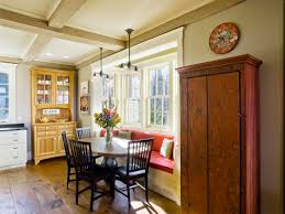 Corner Cabinets For Dining Room Architecture Coffered Ceiling With Pendant Lighting And Corner