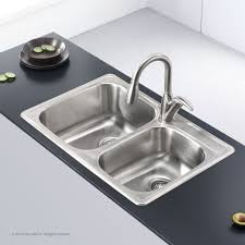 Kitchen Sink American Standard Appealing Bowl Unbdermount Stainless Steel Granite