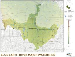 Maps Mn Blue Earth River Major Watershed Minnesota River Basin Data Center
