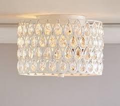 Chandelier Light For Girls Room Clear Acrylic Round Flushmount Chandelier Shared Girls U0027 Room
