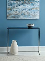 Blue Console Table Enamel Console Table Blue