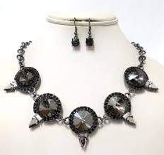necklace set crystal images Stone crystal necklace set jpg