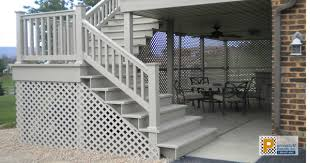 before and after privacy fences and under deck enclosures with