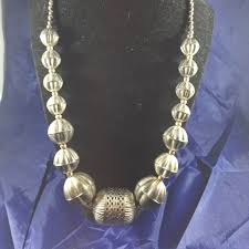 indian beads necklace images No brand jewelry chunky india silver beaded necklace 18 in jpeg