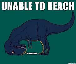 t rex can t reach meme on imgur