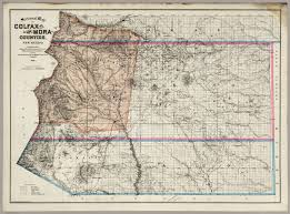 New Mexico Counties Map by Sectional Map Of Colfax And Mora Counties David Rumsey