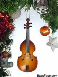 gifts bass guitar upright bass ornament