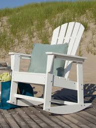 Jefferson Rocking Chair South Beach Recycled Plastic Adirondack Rocking Chair