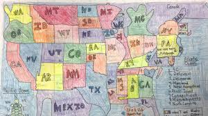 Map The Usa by Ellis 4th Grade Draws Maps Of The Usa By Hand Youtube