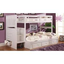 Bunk Beds  Twin Over Twin Bunk Bed With Stairs Bunk Bed Stairs - Full and twin bunk bed