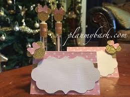 minnie mouse card table minnie mouse pink gold food cards plan my bash
