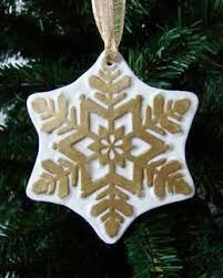 snowflake ornament paperclay craft project