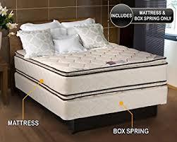 amazon com coil comfort pillowtop full size mattress and box