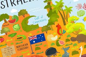 austrial map map of australia australia for poster playroom decor