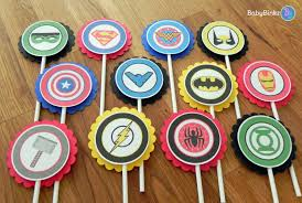super hero logo cupcake toppers superhero batman captain