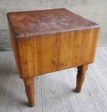 Vintage Solid Maple Butcher Block TableWood WeldedMichigan Maple - Kitchen butcher block tables