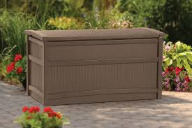 Garden Storage Containers Plastic Sightly Texture Automatic Easy Opening Mechanism Dry Interior