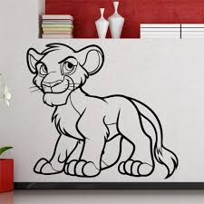 aliexpress com buy free shipping creative simba lion king l wall