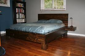diy platform bed with floating nightstands 9 steps with pictures