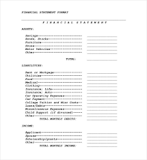 sample financial statement example of financial statement sample