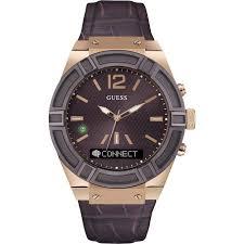 montre guess bracelet cuir images Montre guess connect c0001g2 montre connect e marron homme sur jpg